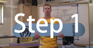 Snowboard beginner step 1
