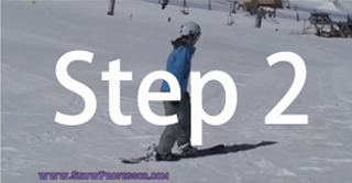 Snowboard beginner step 2