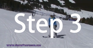 Snowboard beginner step 3