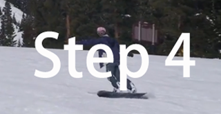 Snowboard beginner step 4