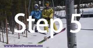 Snowboard beginner step 5