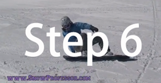 Snowboard beginner step 6