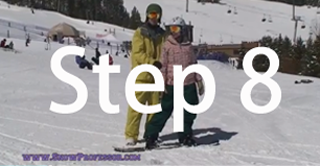 Snowboard beginner step 8