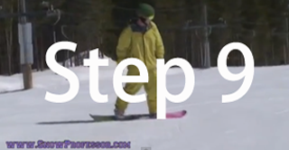 Snowboard beginner step 9
